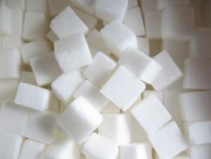açúcar em cubos