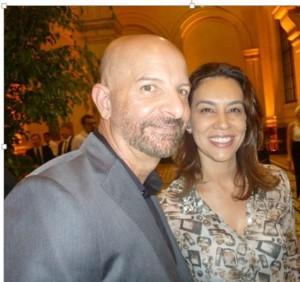 Ivaldo Lima, hairstylist (PR) e esposa