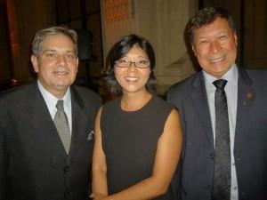Sebastião Motta, diretor da Taiff; Marie Suzuki Fujisawa, gerente de Relações Institucionais da Beauty Fair e Walter Cabral, hairstylist (RJ)