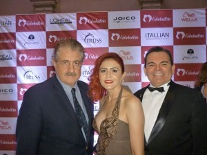 Hugo Turovelzky, curador executivo do BELEZA TODAY; Fátima e Walker Santiago, hairstylists (CE)